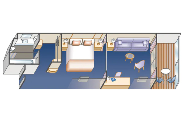 Клубный мини-сьют с балконом. 28м².