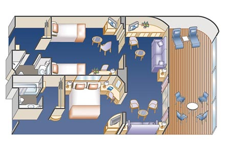 Сьют с балконом Family Suite