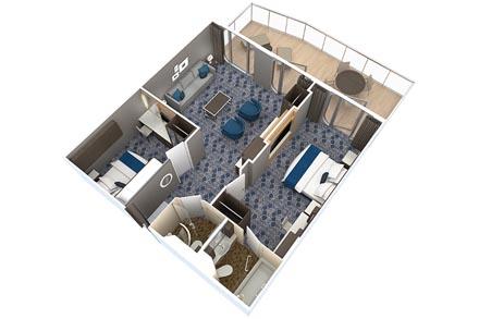 Сьют с балконом, 2 спальни