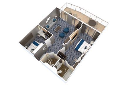 Grand Suite с балконом (2 спальни)