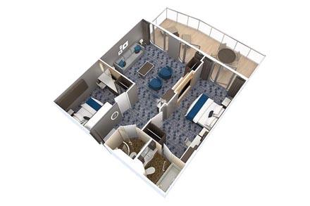 Сьют Grand с балконом, 2 спальни