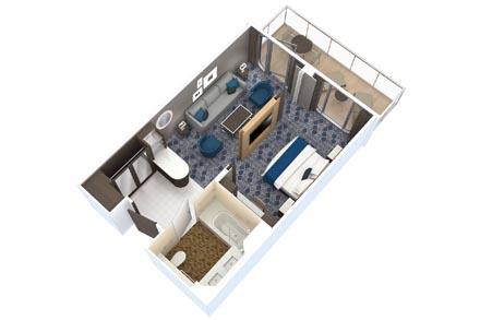 Grand Suite с балконом (1 спальня)
