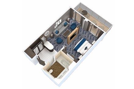 Сьют Grand с балконом, 1 спальня
