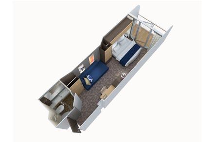Одноместная каюта с балконом