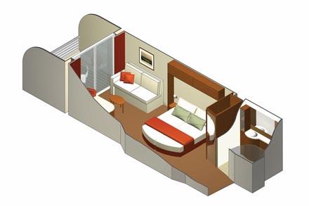 Каюта с балконом AquaClass