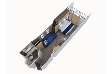 Каюта с частичным видом с балкона