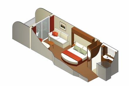 Каюта с балконом Concierge Class