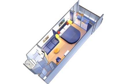 Каюта с балконом просторная