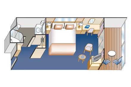 Каюты c балконом (ограниченный обзор)