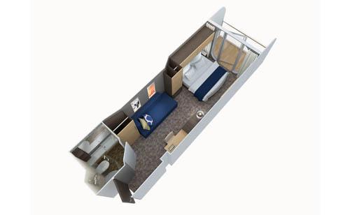 Каюта с большим балконом