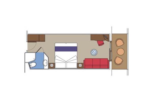 Внешняя с балконом Fantastica (B2). 17–22 м2.