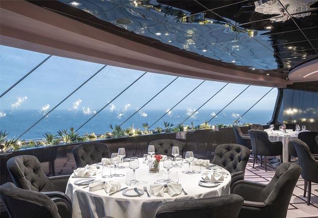 Ресторан для сьютов MSC Yacht Club