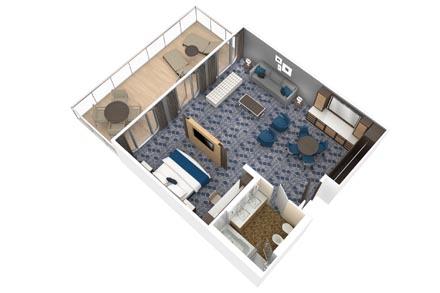 Owner's Suite с балконом