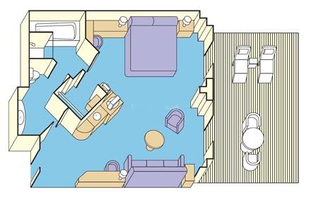 Сьют c балконом Owner's Suite