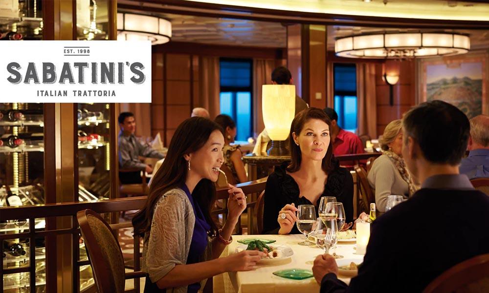 Альтернативный ресторан итальянской кухни Сабатини