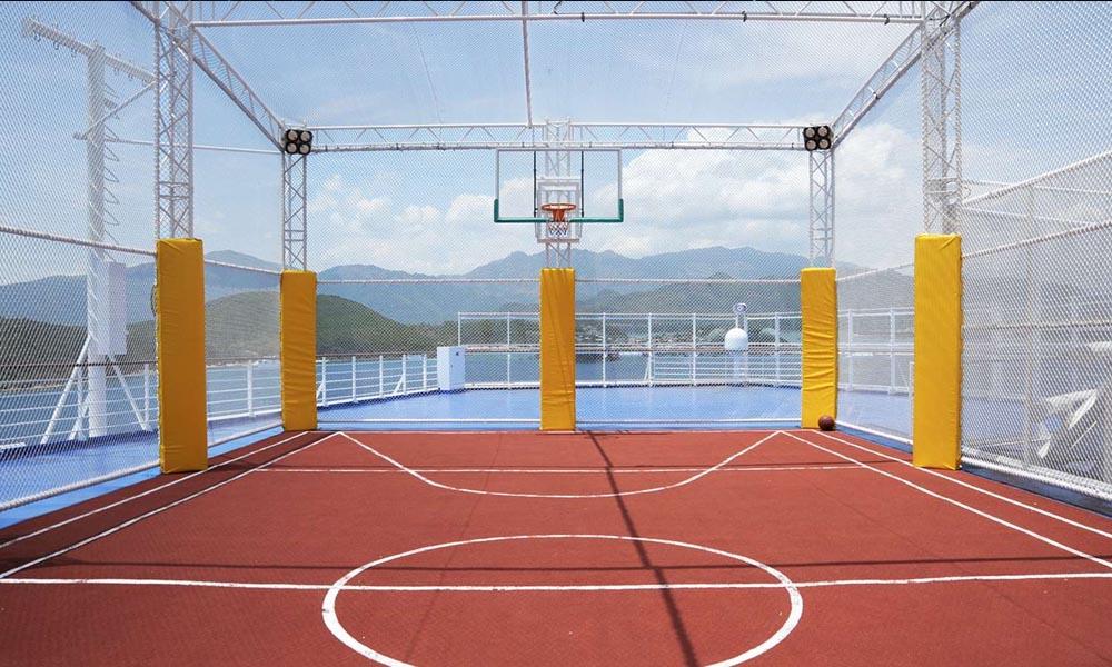 Спортивная площадка для баскетбола и волейбола