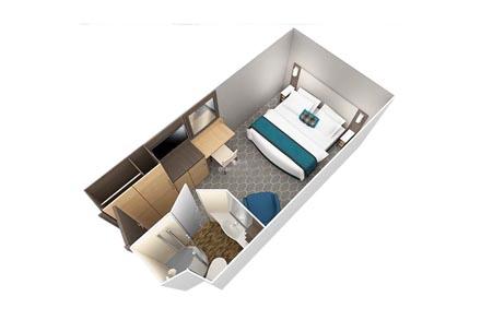 Внутренние каюты с виртуальным балконом